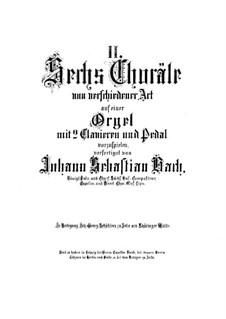 Chorale Preludes II (Schübler Chorales): Complete set, BWV 645-650 by Johann Sebastian Bach