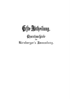 Chorale Preludes V (Kirnberger Chorale Preludes): Complete set, BWV 690-713 by Johann Sebastian Bach
