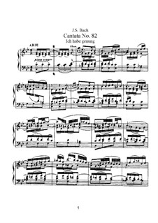 Ich habe genug, BWV 82: Piano-vocal score by Johann Sebastian Bach