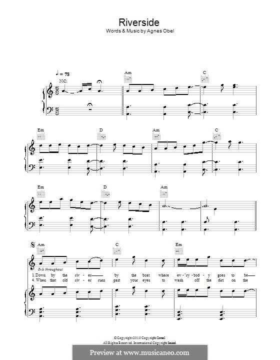 partition guitare riverside agnes obel