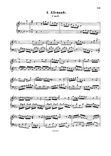 Allemande in C Minor, BWV 834: Allemande in C Minor by Johann Sebastian Bach