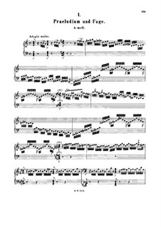 Prelude and Fugue in A Minor, BWV 897: For harpsichord by Johann Sebastian Bach