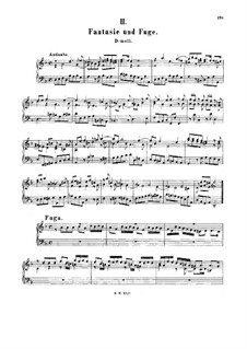 Fantasia, Fugue, Andante and Scherzo, BWV 905: For harpsichord by Johann Sebastian Bach