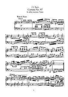In allen meinen Taten, BWV 97: Piano-vocal score by Johann Sebastian Bach