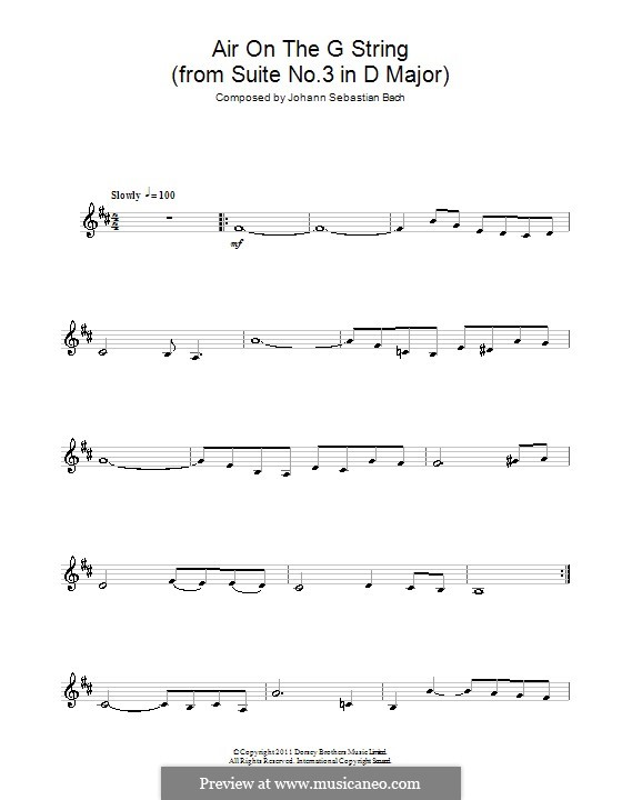 Aria: Version for clarinet by Johann Sebastian Bach