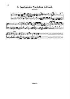 Little Prelude in E Minor (Unfinished), BWV 932: Little Prelude in E Minor (Unfinished) by Johann Sebastian Bach