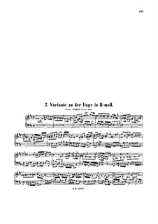 Fugue in B Minor, BWV 951a: Fugue in B Minor by Johann Sebastian Bach