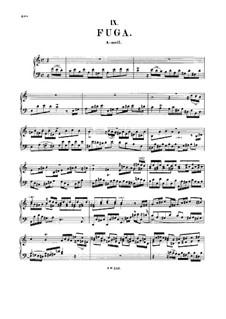 Fugue in A Minor, BWV 959: For harpsichord by Johann Sebastian Bach