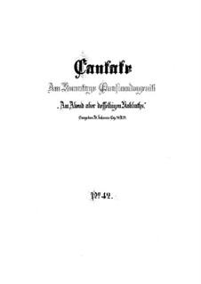 Am Abend aber desselbigen Sabbats (On the Evening of that Very Same Sabbath), BWV 42: Full score by Johann Sebastian Bach