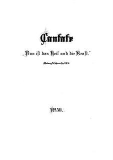 Nun ist das Heil und die Kraft, BWV 50: Full score by Johann Sebastian Bach