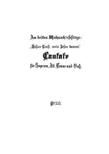 Süsser Trost, mein Jesus kömmt, BWV 151: Full score by Johann Sebastian Bach