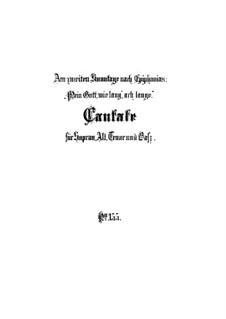Mein Gott, wie lang, ach lange, BWV 155: Full score by Johann Sebastian Bach