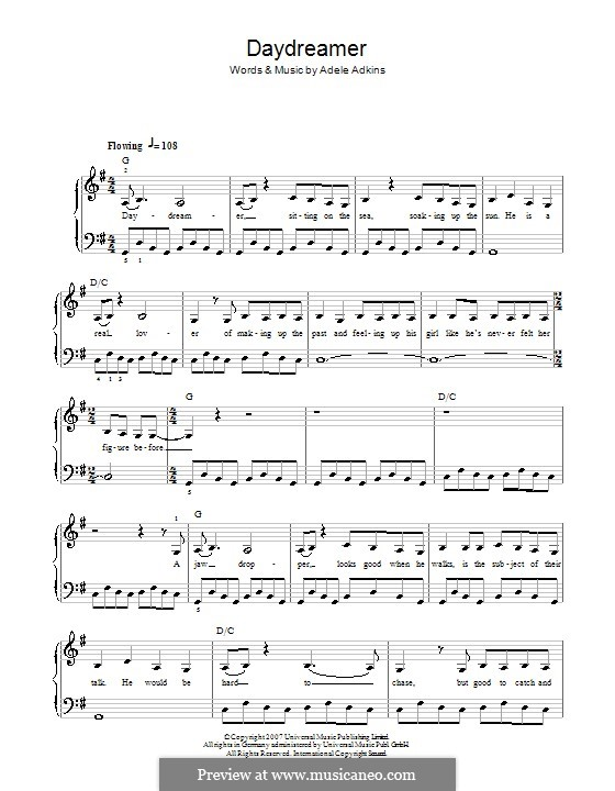 Daydreamer: For easy piano by Adele