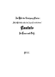 Ich lasse dich nicht, du segnest mich denn, BWV 157: Full score by Johann Sebastian Bach