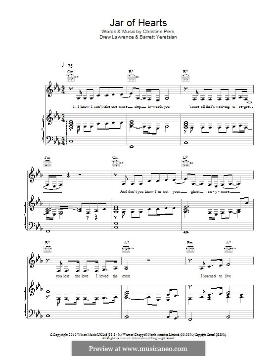 Piano u00bb Piano Chords Jar Of Hearts - Music Sheets, Tablature, Chords and Lyrics
