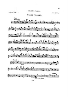 Ten Themes with Variations for Flute (or Violin) and Piano, Op.107: Book III – solo part by Ludwig van Beethoven