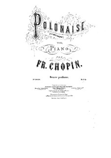 Polonaise in G Flat Major, B.36 KK IVa/8: For piano by Frédéric Chopin