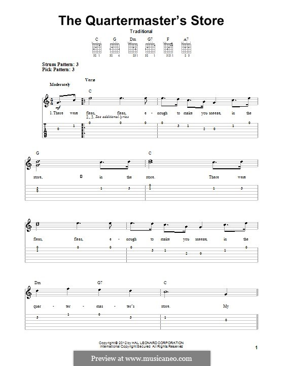 The Quartermaster's Store by folklore - sheet music on ...
