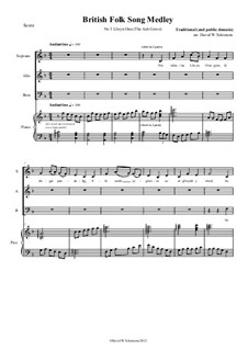 Llwyn Onn - arranged for SAB choir and piano (or keyboard with harp sound): Llwyn Onn - arranged for SAB choir and piano (or keyboard with harp sound) by folklore