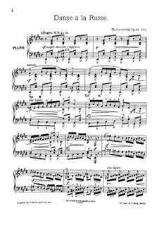 A la campagne, Op.40: No.5 Dance a la russe by Theodor Leschetizky
