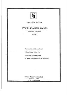 Four Somber Songs: Piano-vocal score by Nancy Van de Vate