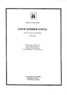 Four Somber Songs: Orchestral score by Nancy Van de Vate