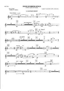 Four Somber Songs: Orchestral parts by Nancy Van de Vate