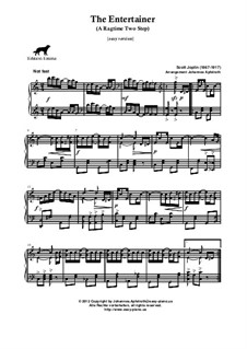 The Entertainer, for Piano: Easy version by Scott Joplin