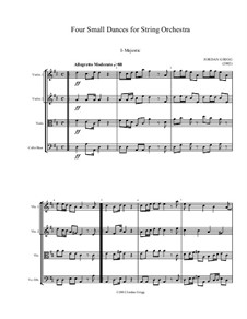 Four Small Dances for String Orchestra: Four Small Dances for String Orchestra by Jordan Grigg