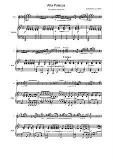 Alla Polacca, Op.257: For violin and piano by Carl Böhm