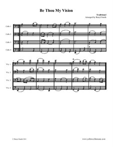 Be Thou My Vision: For four cellos (cello quartet) by folklore