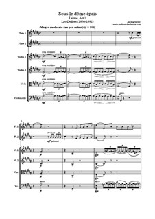 Sous le dôme épais, for two flutes and strings: For two flutes and strings by Léo Delibes