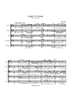 Adagio for Strings: Adagio for Strings by Jordan Grigg