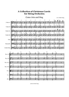Collection of Christmas Pieces: For string orchestra (individual tunes) by Unknown (works before 1850)