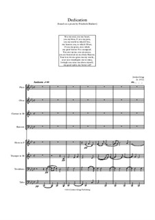 Dedication for Wind Octet: Dedication for Wind Octet by Jordan Grigg