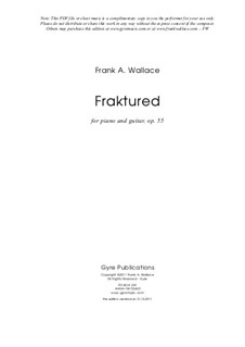 Fraktured, Op.55: Fraktured by Frank Wallace