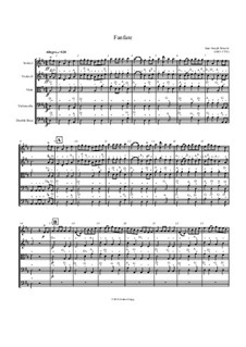 Fanfare: For string orchestra by Jean-Joseph Mouret