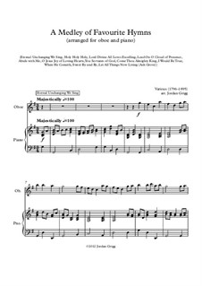 A Medley of Favourite Hymns: For oboe and piano by Unknown (works before 1850)