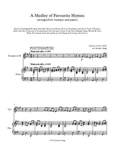 A Medley of Favourite Hymns: For trumpet and piano by Unknown (works before 1850)