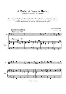 A Medley of Favourite Hymns: For viola and piano by Unknown (works before 1850)
