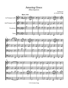 Amazing Grace: For brass quartet by folklore