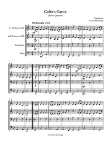 Colin's Cattle: For brass quartet by Unknown (works before 1850)