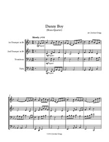 Danny Boy (Londonderry Air): For brass quartet by folklore
