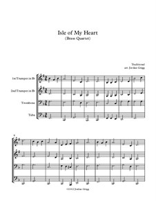 Isle of My Heart: For brass quartet by folklore