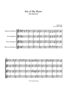 Isle of My Heart: For sax quartet by folklore