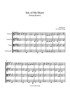 Isle of My Heart: For string quartet by folklore