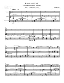 Je crois entendre encore: For string trio by Georges Bizet