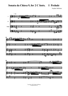 Sonata No.9 for 2 Instruments in C: Sonata No.9 for 2 Instruments in C by Stephen McManus