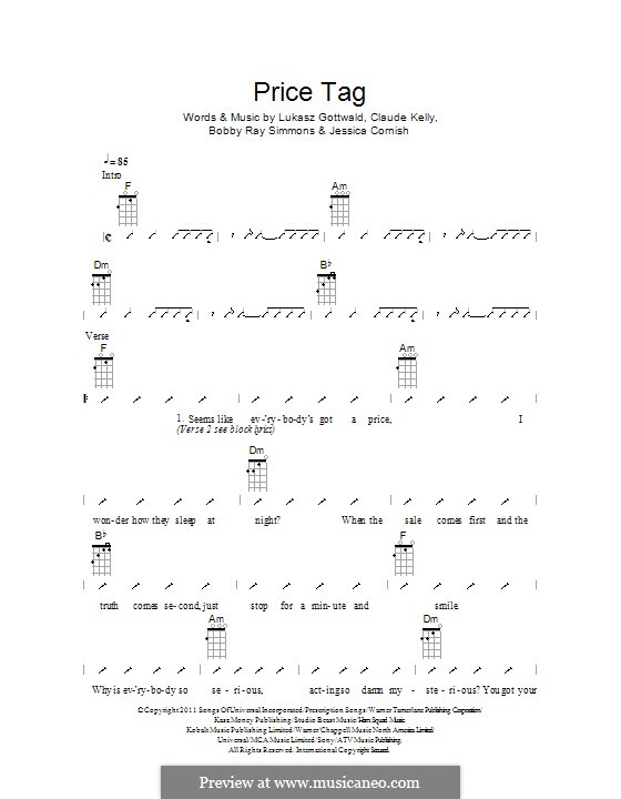 Jessie J Price Tag Guitar Chords