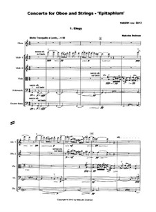 Concerto for Oboe and Strings - Epitaphium, MMO2: Concerto for Oboe and Strings - Epitaphium by Malcolm Dedman
